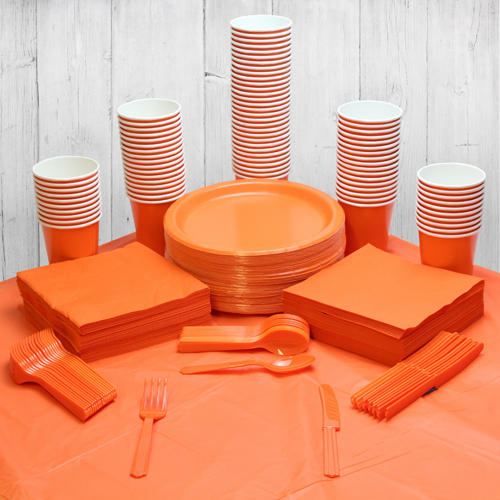 Orange 98 Person Party Pack
