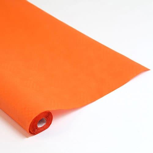 Orange Paper Banquet Roll - 8m x 1.2m