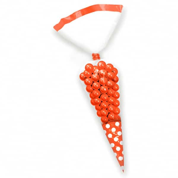 Orange Cone Polka Dots Gift Bags - Pack of 10 Product Image