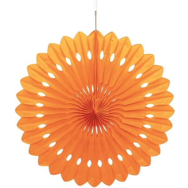 Orange Hanging Decorative Honeycomb Fan 40cm Product Image