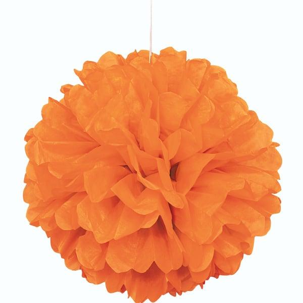 Orange Honeycomb Hanging Decoration Puff Ball 40cm Product Image