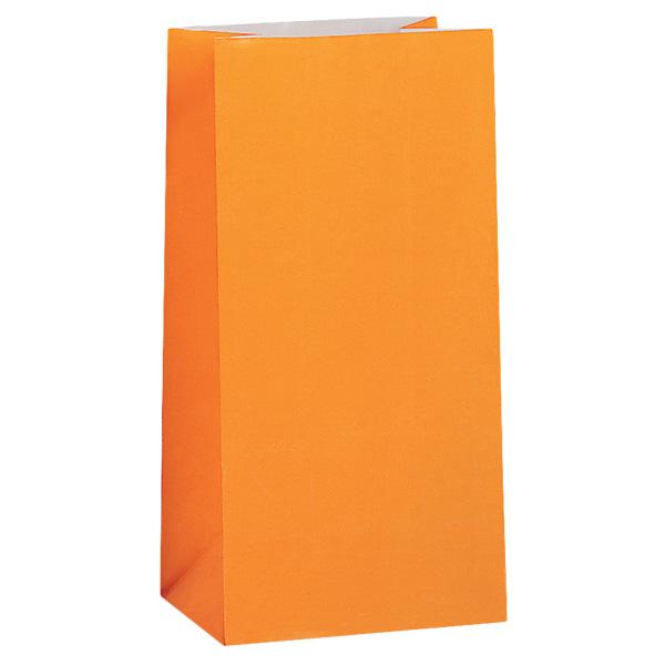 Orange Paper Party Bag - Pack of 12