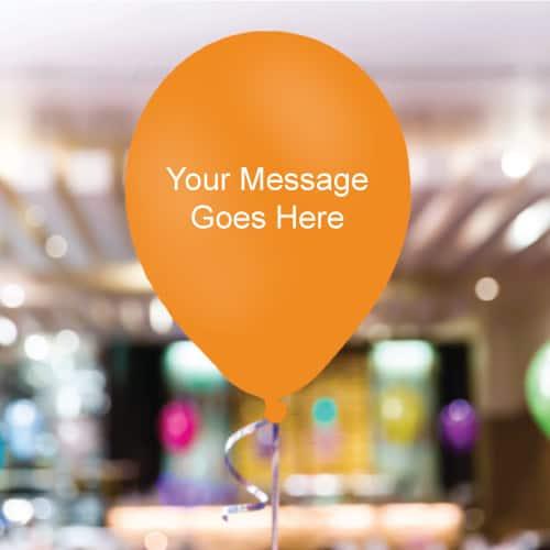 Orange Personalised 11 Inch Latex - 35 Balloons