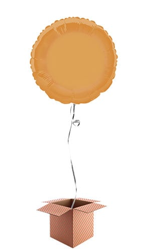 Orange Round Foil Balloon - Inflated Balloon in a Box Product Image