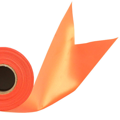 Orange Satin Faced Ribbon Reel 100mm x 50m Product Image
