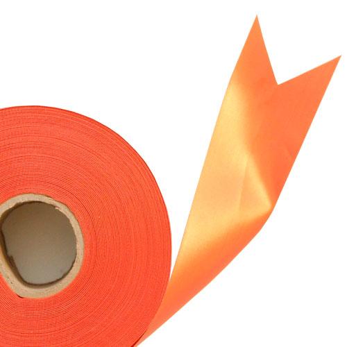 Orange Satin Faced Ribbon Reel 45mm x 100m