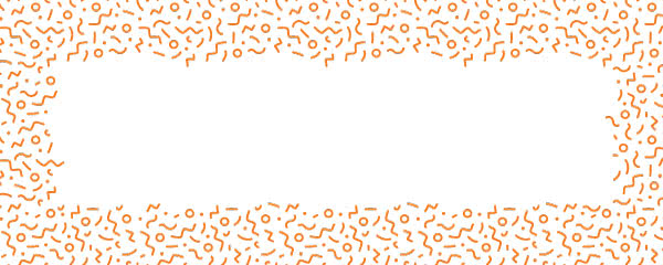 Orange Squiggle Design Small Personalised Banner - 4ft x 2ft