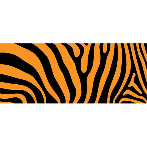 Orange Tiger Animal Print PVC Party Sign Decoration 60cm x 25cm Product Image