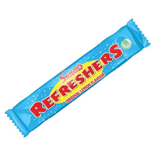 Original Lemon Swizzels Refresher Chew Bar Vegetarian Sweet 18g Product Image