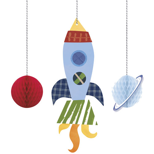Outer Space Hanging Decorations - Pack of 3 Product Image