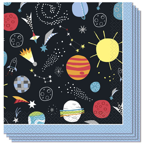 Outer Space Luncheon Napkins 33cm 2Ply - Pack of 16
