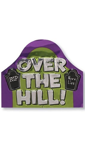 Over the Hill Metallic Cutout - 15 x 12 Inches / 38 x 30cm Product Image