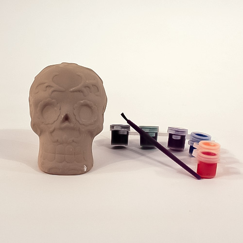 Paint Your Own Skull Halloween Arts & Crafts