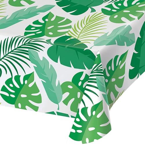 Palm Leaves Plastic Tablecover 274cm x 137cm