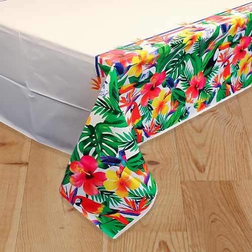 Palm Tropical Luau Plastic Tablecover 213cm x 137cm Product Image