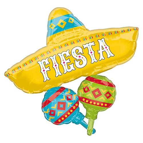 Fiesta Cluster Helium Foil Giant Balloon 81cm / 32 in Product Image