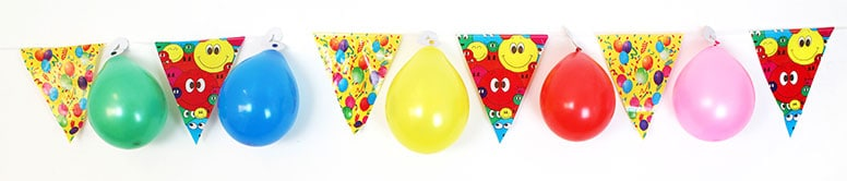Party Bunting With 10 Hanging Balloons - 4m Product Image