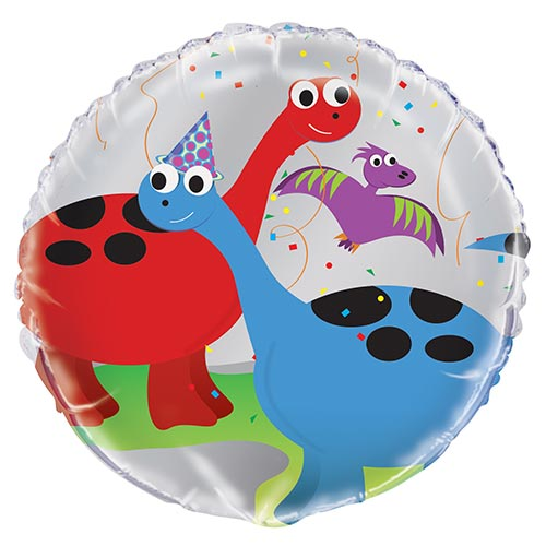 Party Dinosaur Round Foil Helium Balloon 46cm / 18 in