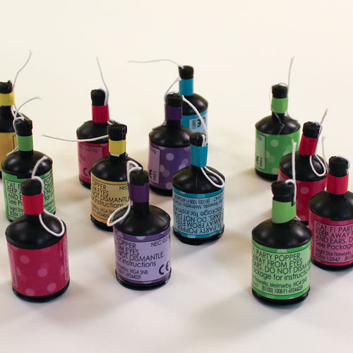 Party Poppers - Pack of 25