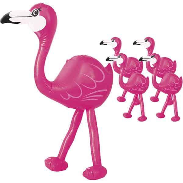 Party Time Inflatable Pink Flamingo - 22 Inches / 57cm - Pack of 5