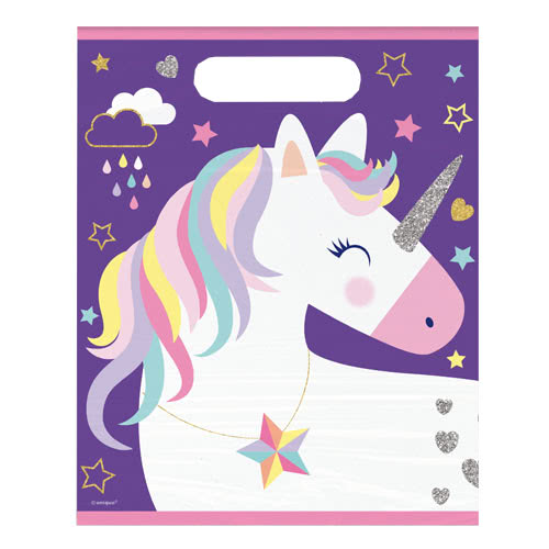 Party Time Unicorn Loot Bags - Pack of 8