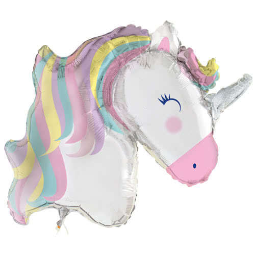 Party Time Unicorn Helium Foil Giant Balloon 106cm / 42 in Product Image