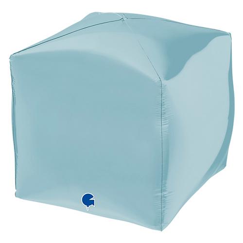 Pastel Blue 4D Square Shape Foil Helium Balloon 38cm / 15 in Product Image