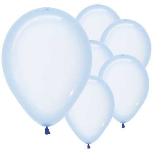 Pastel Blue Crystal Biodegradable Latex Balloons 30cm / 12 in - Pack of 50 Product Image
