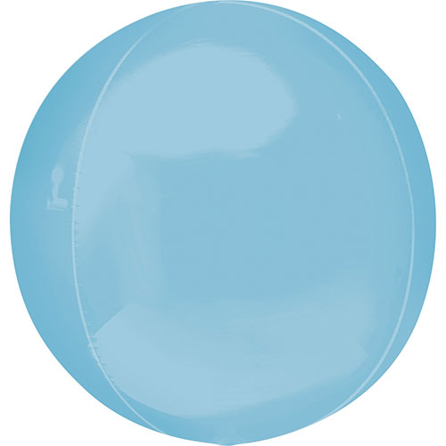 Pastel Blue Orbz Foil Helium Balloon 38cm / 15 in
