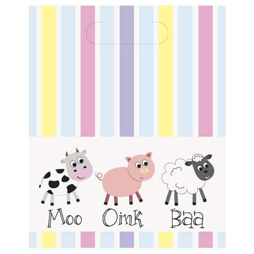 Farm Animals Loot Bags - Pack of 8