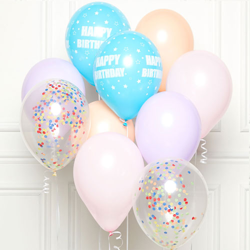 Pastel Happy Birthday DIY Latex Balloon Kit Product Image