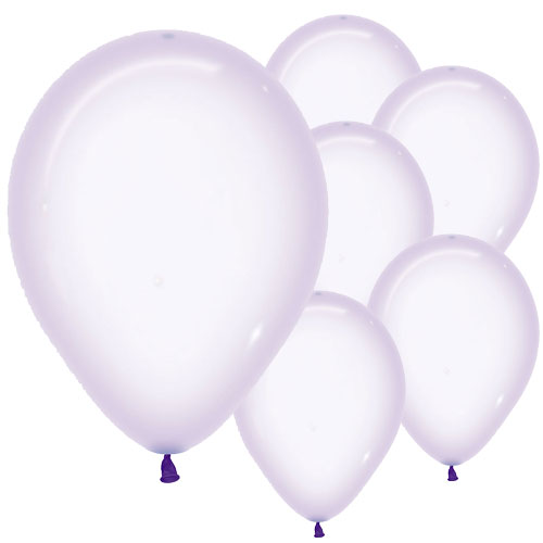 Pastel Lilac Crystal Biodegradable Latex Balloons 30cm / 12 in - Pack of 50 Product Image