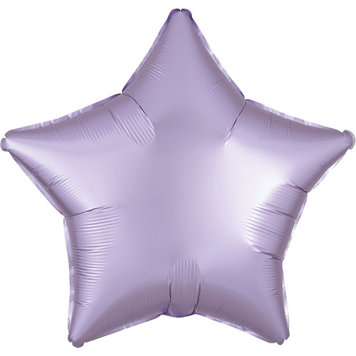Pastel Lilac Satin Luxe Star Shape Foil Helium Balloon 48cm / 19 in