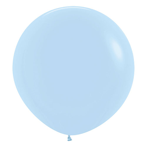 Pastel Matte Baby Blue Biodegradable Jumbo Latex Balloons 61cm / 24 in - Pack of 3 Product Image