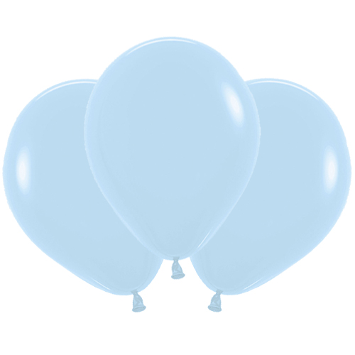 Pastel Matte Blue Biodegradable Latex Balloons 45cm / 18 in - Pack of 25 Product Image