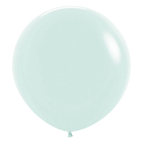 Pastel Matte Green Biodegradable Jumbo Latex Balloons 61cm / 24 Inch - Pack of 3 Product Image