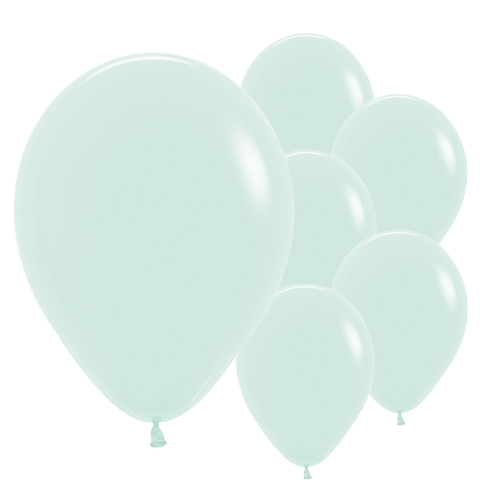 Pastel Matte Green Biodegradable Latex Balloons 30cm / 12 in - Pack of 50 Product Image