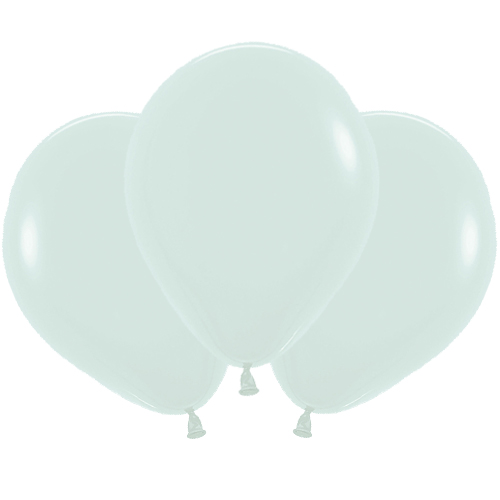 Pastel Matte Green Biodegradable Latex Balloons 45cm / 18 in - Pack of 25 Product Image