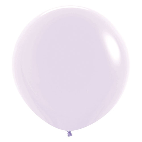 Pastel Matte Lilac Biodegradable Jumbo Latex Balloons 61cm / 24 Inch - Pack of 3 Product Image