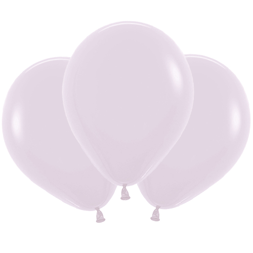 Pastel Matte Lilac Biodegradable Latex Balloons 45cm / 18 in - Pack of 25 Product Image