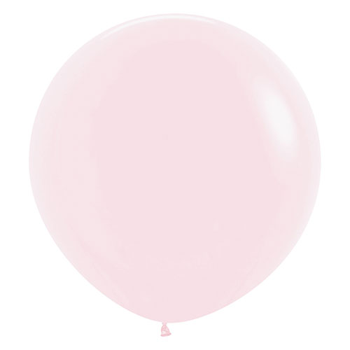 Pastel Matte Pink Biodegradable Jumbo Latex Balloons 61cm / 24 in - Pack of 3 Product Image