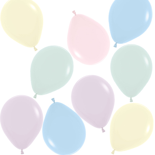 Pastel Matte Solid Assorted Colours Biodegradable Mini Latex Balloons 13cm / 5 in - Pack of 100 Product Image