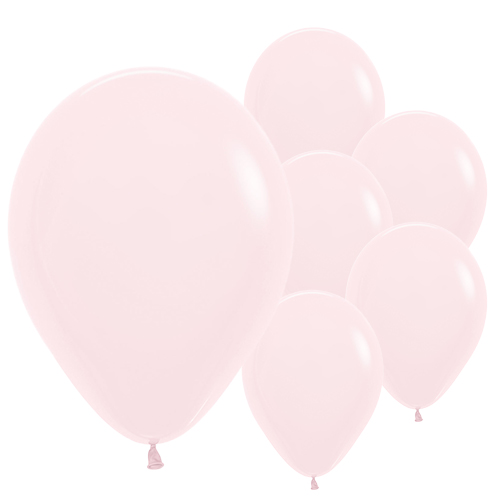 Pastel Matte Solid Pink Biodegradable Latex Balloons 30cm / 12 in - Pack of 50 Product Image