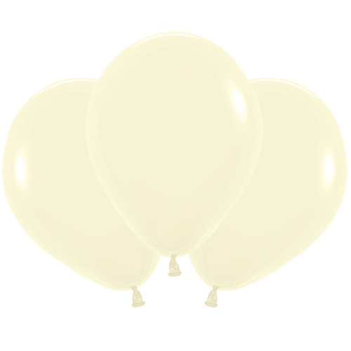 Pastel Matte Yellow Biodegradable Latex Balloons 45cm / 18 in - Pack of 25 Product Image