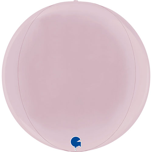 Pastel Pink 4D Globe Foil Helium Balloon 29cm / 11 in Product Image