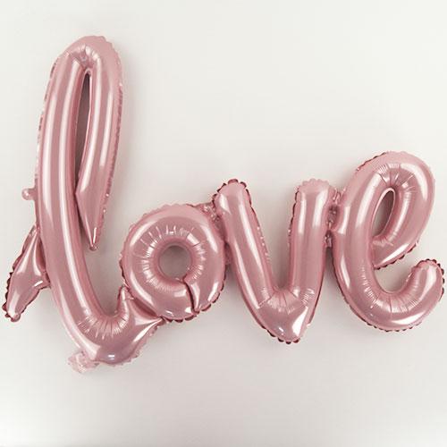 Pastel Pink Love Script Air Fill Foil Balloon 76cm / 30 in