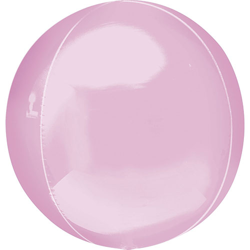 Pastel Pink Orbz Foil Helium Balloon 38cm / 15 in Product Image