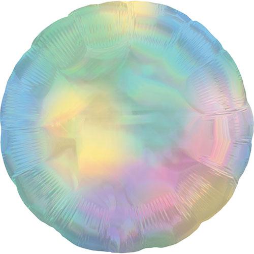 Pastel Rainbow Iridescent Round Foil Helium Balloon 46cm / 18Inch