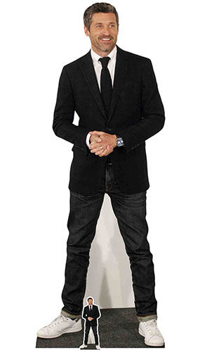 Patrick Dempsey Casual Trainers Lifesize Cardboard Cutout 181cm Product Image