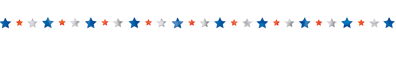 Patriotic Stars Foil Garland 274cm